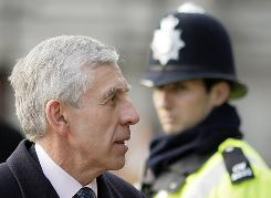 Britain's Justice Secretary Jack Straw arrives Thursday to give evidence at the Iraq inquiry iin central London.