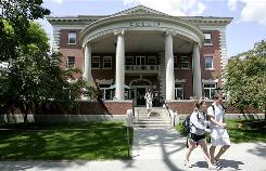 Dartmouth College is bucking the national trend of women being overrepresented on campus  as of 2008, about 53% of its students were male.