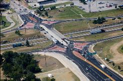 "Missouri unveiled the nation's first ""diverging diamond"" interchange last June at the intersection of Missouri 13 and Interstate 44."