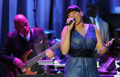 Jennifer Hudson performs at the Pre-Grammy Gala, a star-studded event attended by artists and industry VIPs in music, film and television.