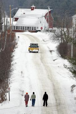 In Vienna, Maine, the high cost of asphalt has this town considering changing roads to gravel.