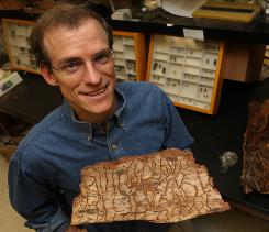 Northern Arizonal University entomology professor Richard Hofstetter is studying bark beetles and infested pine trees.