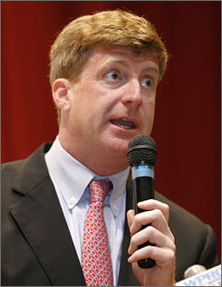 Rep. Patrick Kennedy, D-R.I., seen here in Exeter, R.I. in Sept. 2009, won't seek re-election in Rhode Island this year.