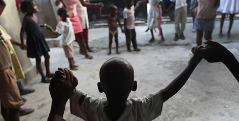 The Foyer de la Patience des Infantes holds 150 children in Port-au-Prince. UNICEF estimates that there were about 380,000 orphans in Haiti before the earthquake struck Jan. 12.