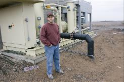 Mike Alexandria, the on-site engineer for Glendale Energy, helped lead the work on the newly built gas-to-energy plant. The Glendale, Ariz., project began operating in January.