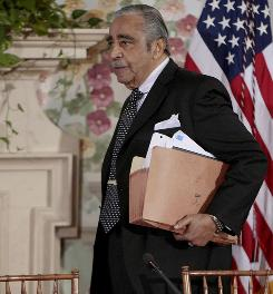 The House ethics committee concluded that Rep. Charles Rangel, D-N.Y., seen Thursday in Washington, knowingly accepted Caribbean trips in violation of House rules that forbid hidden financing by corporations.
