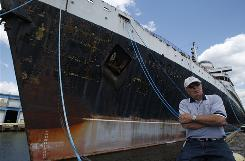 Joe Rota of Putnam Station, N.Y., who served on the SS United States as a seaman and as the ship's photographer, returned in 2007 to see the 990-foot ocean liner, which is berthed in Philadelphia.