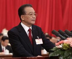 "Chinese Premier Wen Jiabao says the country ""will give high priority to fighting corruption and encouraging integrity."""