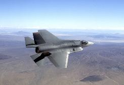 This photo by Northrop Grumman Corp., shows a pre-production model of the F-35 Joint Strike Fighter.