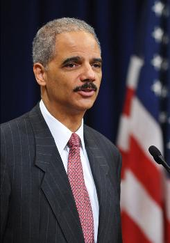 Attorney General Eric Holder speaks at the Justice Department's Black History Month celebration on March 2.