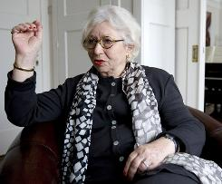 Berthe Meijer during an interview with the Associated Press at her home in Amsterdam, provides a glimpse of the final days of Anne Frank.