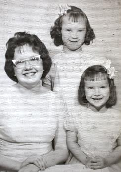Marybeth Solinski, top, with her sisters Lee Cornell, left, and Paulette Solinski.