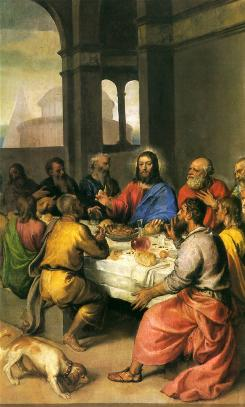 """The Last Supper"" painting by Tiziano Vecellio Titian."