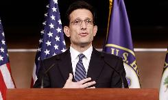 House Minority Whip Eric Cantor, R-Va., tells reporters that a bullet was fired into his Richmond campaign office.