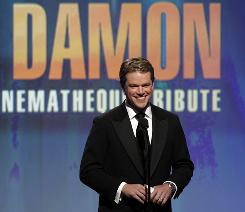 Industry heavyweights such as Robin Williams and Clint Eastwood turned Matt Damon's honor from American Cinematheque into more of a roast than an earnest tribute, and a lot will have to be bleeped out when it airs later on ABC.