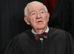"Justice John Paul Stevens says he'll decide soon when to retire but knows he ""will surely"" step down while Obama is still president."