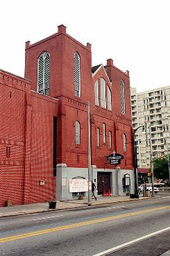 The Ebenezer Baptist Church near the Visitor's Center at the Martin Luther King Jr. National Historic Site in Atlanta.