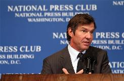 After his newborn twins nearly died because they'd received an overdose of a drug in a hospital, actor Dennis Quaid became a patient safety advocate. Quaid spoke about his efforts with members of the National Press Club April 12 in Washington, D.C.