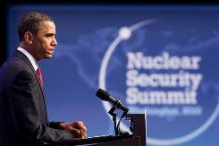 President Obama holds a news conference at the Nuclear Security Summit on April 13, 2010 in Washington, D.C.