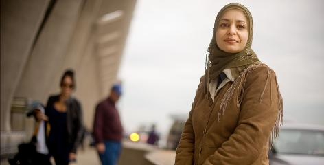 Nadia Hassan says she was singled out for extra scrutiny at Dulles International Airport in Virginia.