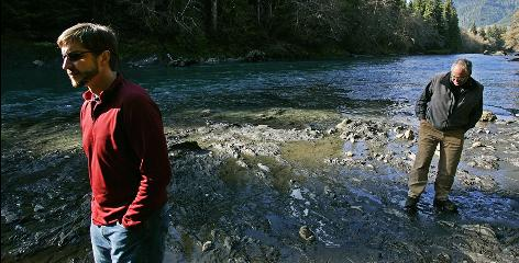 Phil Davis and Mike Hagen tour the protected Hoh River in Washington state.