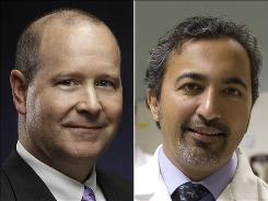 Larry Buchson, left, and Ami Bera are doctors running for House seats. Buchson is an Indiana Republican. Bera is a California Democrat.