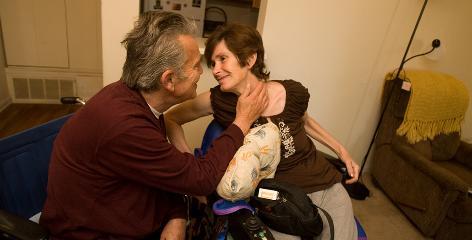 Richard Hasselbach, 62, and Deborah Kadlec, 52, moved from Arrowhead Nursing Center in Jonesboro, Ga., into a Peachtree City apartment.