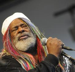 George Clinton with Parliament Funkadelic at the New Orleans Jazz and Heritage Festival.