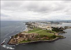 The El Morro fortress is in Old San Juan, Puerto Rico. The island became a U.S. territory at the end of the Spanish-American War.