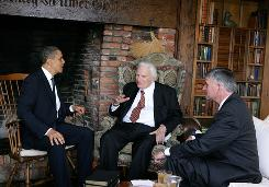 "President Obama, Rev. Billy Graham and son Rev. Franklin Graham met in April at Billy Graham's North Carolina home at which time Franklin Graham says he told Obama's spiritual adviser, Joshua Dubois, that the president is angering evangelicals due to the perception that he is ""soft on Islam."""