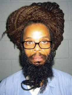Rastafarian inmate Kendall Ray Gibson at the Brunswick Correctional Center in Lawrenceville, Va. Gibson has spent more than 10 years in segregation because of his hair.