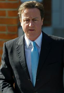 Conservative Party chief David Cameron struck a deal with Nick Clegg, leader of the third-placed Liberal Democrats.