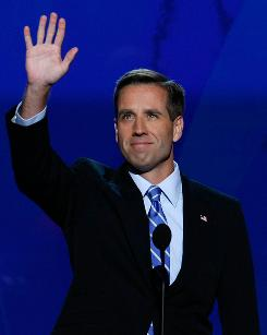 Delaware Attorney General Beau Biden, at the Democratic National Convention on Aug. 27, 2008, is recuperating from a stroke.