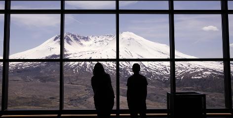 Johnston Ridge Observatory, near Toutle, Wash., has views of Mount St. Helens.