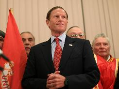 Richard Blumenthal, 64, enlisted in the Marine Corps Reserve in 1970 after receiving deferments from the military draft, he said at a news conference Tuesday. He spent six years in the Reserve, none of it overseas.