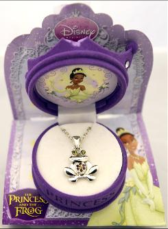 "This undated photo released by the Consumer Product Safety Commission, shows a ""The Princess and the Frog"" necklace, sold exclusively at Walmart stores, which is under recall due to high levels of toxic metal cadmium."