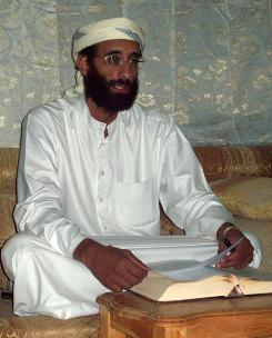 This Oct. 2008 file photo shows Imam Anwar al-Awlaki in Yemen. Al-Awlaki, an American-Yemeni cleric who is advocating the killing of American civilians in a new al-Qaeda video.