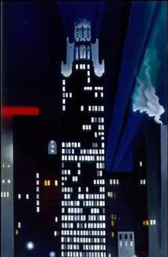 "Fisk University owns this 1927 painting by Georgia O'Keeffe, ""Radiator Building  Night, New York."" The university will be in court Aug. 9 to resolve challenges to its plan to sell art donated by O'Keeffe."