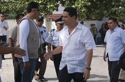 Cancun Mayor Gregorio Sanchez, seen in January mingling on city streets surrounded by heavy security, denies the charges linking him to cartels, calling them politically motivated.