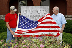 Sons of Bardstown, Ky.: Ronnie Hibbs, 66, left, and Don Parrish, 68, fought side by side in a National Guard unit that lost five men in one battle in Vietnam