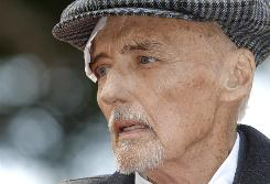 Dennis Hopper made one of his final public appearances at the dedication for his Hollywood Walk of Fame star on March 26.