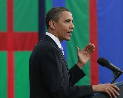 President Obama speaks about the economy, Wednesday, June 2, 2010, at Carnegie Mellon University in Pittsburgh.