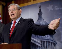 Sen. Robert Menendez is one of at least a half-dozen members of Congress, including House Financial Services Committee Chairman Barney Frank, who have acknowledged contacting the Treasury in support of financial institutions seeking money from the $700 billion bailout program.