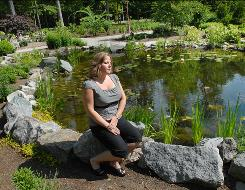 Lisa Aretz visits the memorial garden at the Smyrna Rest Area in Delaware. The state opened it in October 2007 as an alternative to makeshift roadside memorials, which are illegal and sometimes pose a safety hazard. Aretz came up with the idea for Delaware.