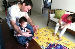 Joelle Fiore, 33, a Singapore native, met Luigi Fiore, 35, her Italian husband in 2004, when they were both working in London. The Fiores live in Yishun, a relatively new housing estate in the northern part of Singapore. It is said that children born in the Year of the Tiger are troublesome and a burden to their parents, so many families are opting out of having kids in 2010 which could be a problem for the birth rate.