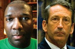 Alvin Greene, left, Democratic Senate nominee, is charged with showing obscene photos to a college student. Gov. Mark Sanford, right, disclosed his infidelity last year and has since gotten a divorce.