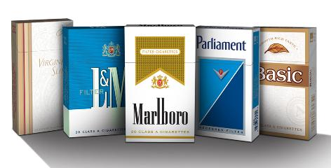 """Lights"" out: Faced by a ban on labels such as ""mild"" and ""light,"" cigarette makers have lightened package colors."