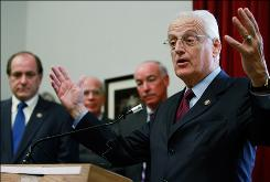 """We're failing to find TBI (traumatic brain injury) and post-traumatic stress disorder in an era when the military is trying to find and assist folks who need it,"" said Rep. Bill Pascrell, D-N.J., at right."