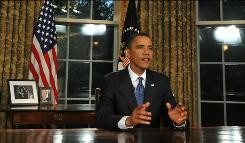 President Obama is photographed in the Oval OfficeTuesday after delivering his speech regarding the BP oil spill disaster.