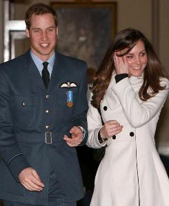 Britain's Prince William and Kate Middleton walk in RAF Cranwell, England after William received his RAF wings from his father, the Prince of Wales. William and Middleton are in their ninth year of courtship  and they're not the only young adults waiting so long to tie the knot.